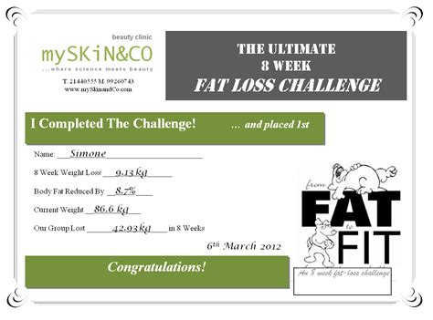 weight loss certificate template 28 images weight loss