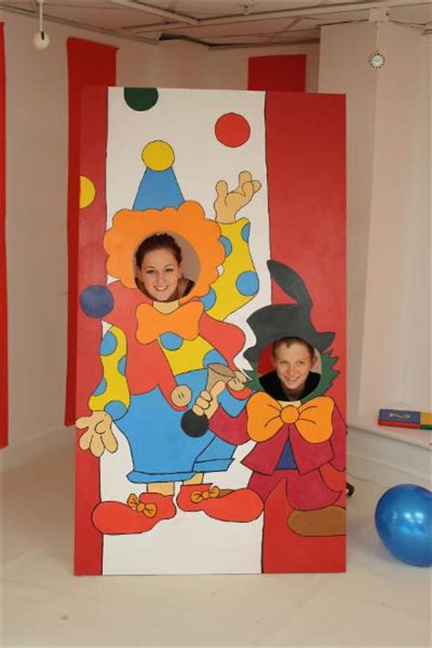carnival themed stall circus theme photo board side stalls for fairground