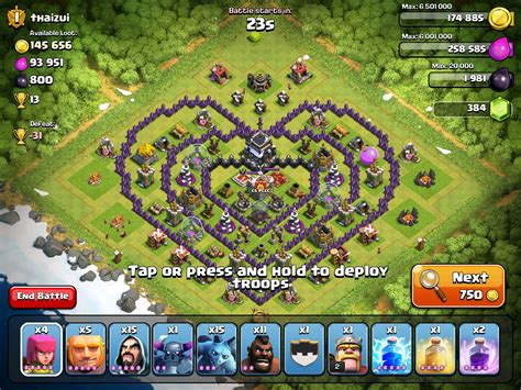 coc layout heart more hearts coc base clash of clans pinterest