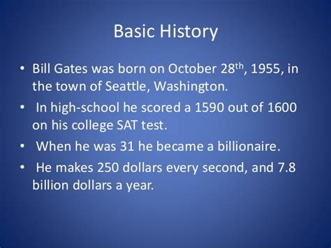 ppt on biography of bill gates bill gates powerpoint