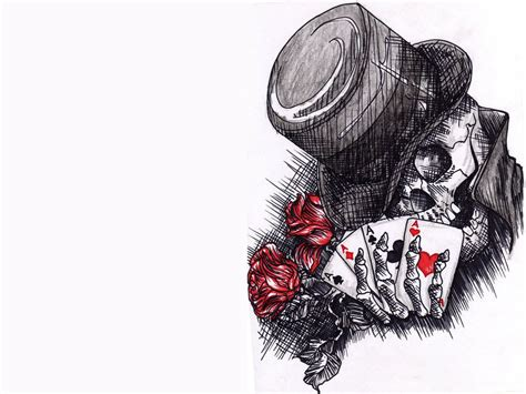 hd tattoo drawing skull joker tattoo art wallpaper hd images desktop free