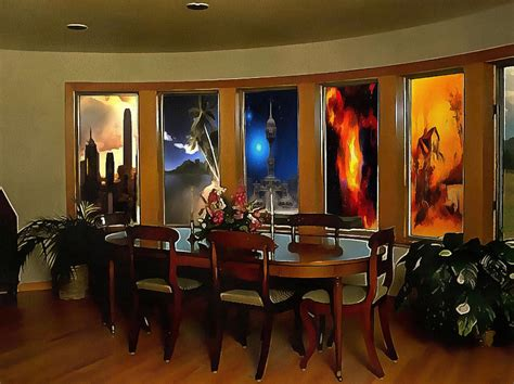 a room with scenic views painting by mario carini