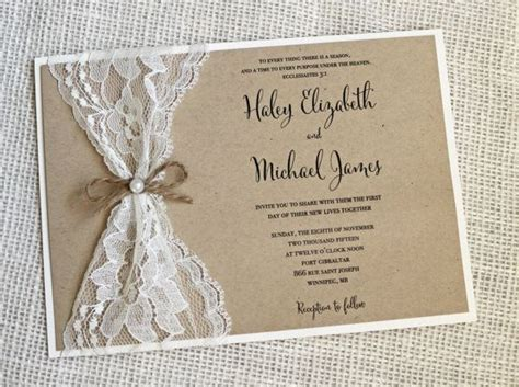 Make Wedding Invitations by Vintage Lace Wedding Invitations Vintage Lace Wedding