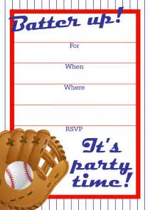 free printable invitations free baseball birthday