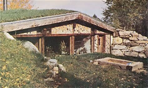 Earth Sheltered Cabin by The Log End Cave An Earth Sheltered Cordwood House