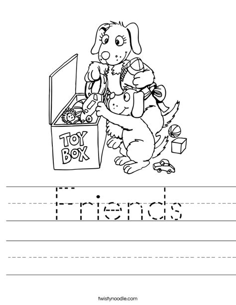 Friendship Worksheets by Friends Worksheet Twisty Noodle