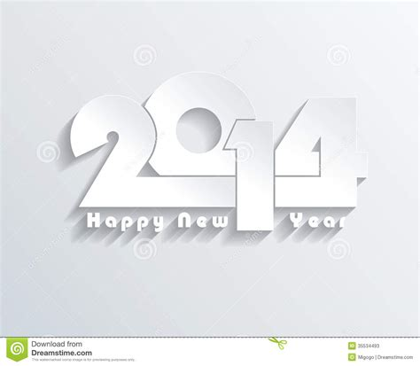 happy new year 2014 creative greeting card stock vector