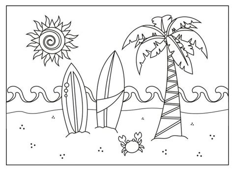 Coloring Pages Summer Printable