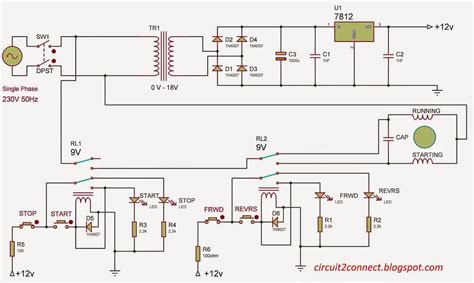wiring diagram single phase motor free