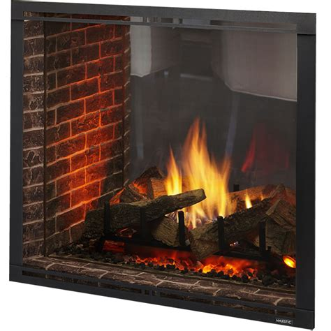 marquis ii direct vent see thru fireplace by majestic