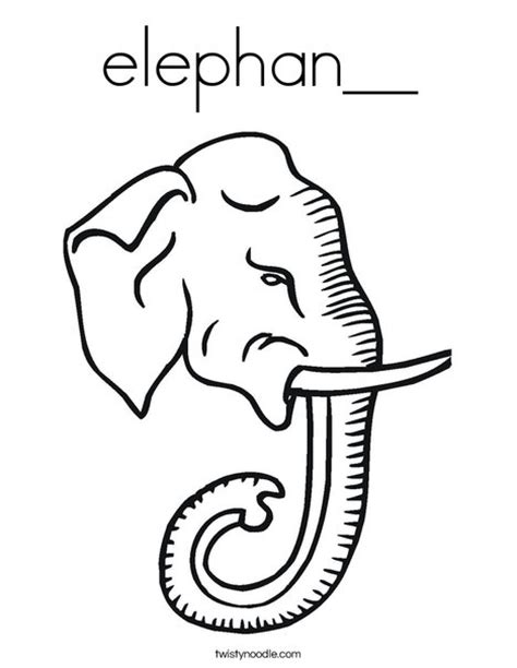 grey elephant coloring pages elephan coloring page twisty noodle
