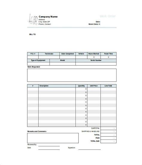 40 Work Order Template Free Download Word Excel Pdf Work Order Template Docs