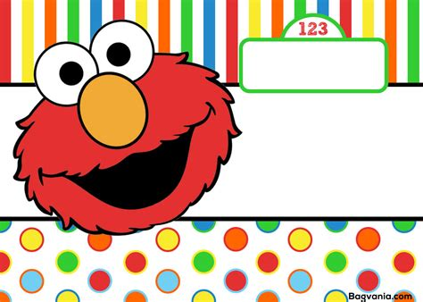 elmo template for invitations free printable elmo birthday invitations bagvania free