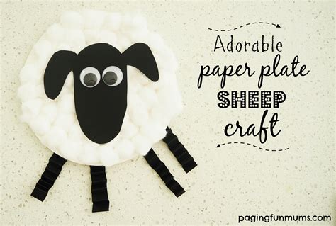 paper plate sheep craft paging fun mums