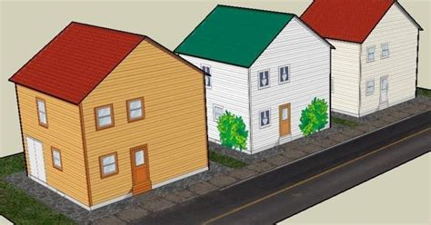 paper craft houses papermau three easy to build papercraft houses by