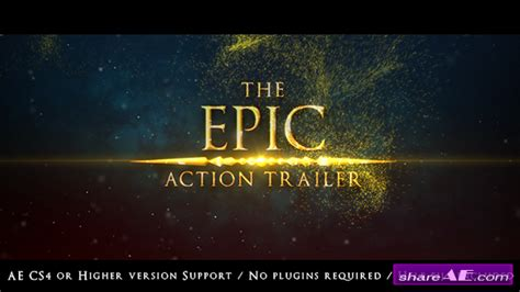 videohive the epic action trailer 187 free after effects