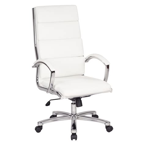 high back executive chair leather high back executive white faux leather chair