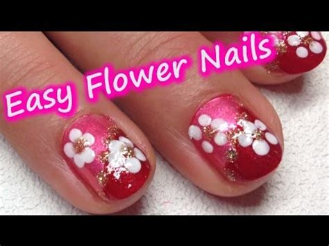 super easy nail art youtube super easy flower nail art using bobby pin only great for