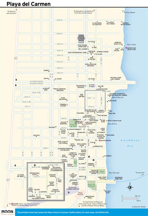 printable map playa del carmen printable travel maps of yucat 225 n peninsula moon com