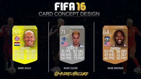 ultimate team layout my fifa 16 card concept design fifa 16 ultimate team