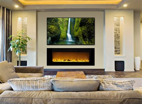 Recessed Fireplace by Sideline60 Wall Recessed Electric Fireplace In Black