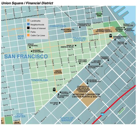 san francisco downtown map union square maps san francisco bay area sfgate