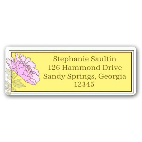Bridal Address by Floral Bridal Shower Yellow Return Address Labels Paperstyle