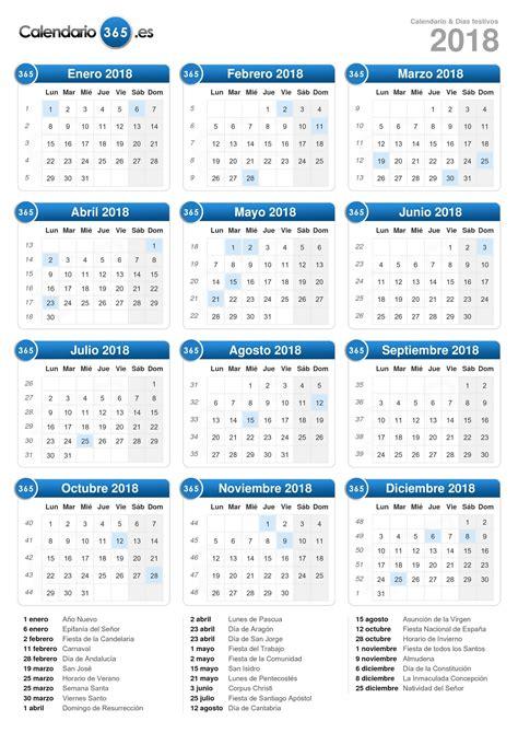 Calend Feriados 2018 Calendario 2018