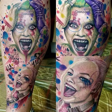 watercolor harley quinn tattoo 30 best images about my actual tattoos on