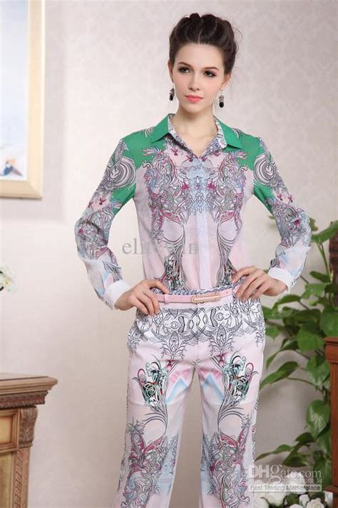 Import Dresses Fashions By Catwalk flower printed blouse catwalk fashion suits 2013