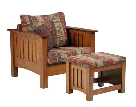 mission style recliner fabric mission style chair with ottoman