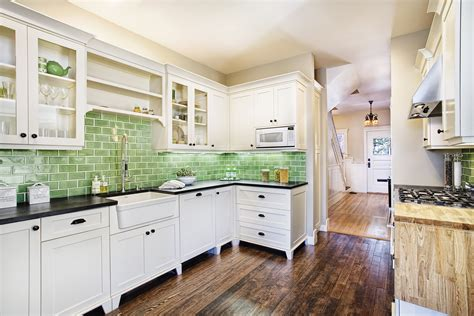 green kitchen tile backsplash 10 kitchen color ideas we love colorful kitchens
