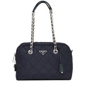 prada bl0903 quilted tessuto shoulder bag with chain