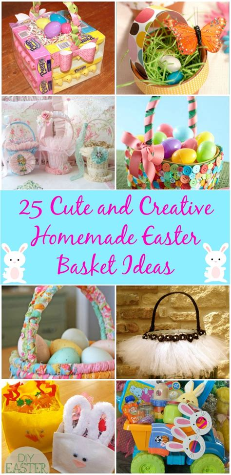 diy easter basket ideas 25 cute and creative homemade easter basket ideas diy