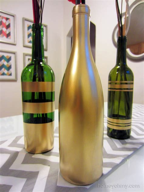 spray painting how to diy spray painted wine bottles for fall decorating