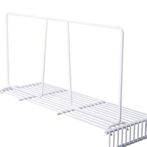 white wire rack shelving 8 quot white wire shelf divider for wire shelving at menards 174