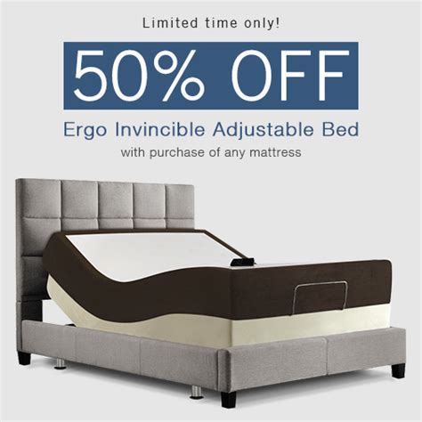 amerisleep offers 50 adjustable bed with purchase of memory foam mattress for limited time