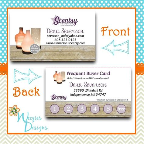 Scentsy Frequent Buyer Card Template by 38 Best Scentsy Marketing Designs More Images On