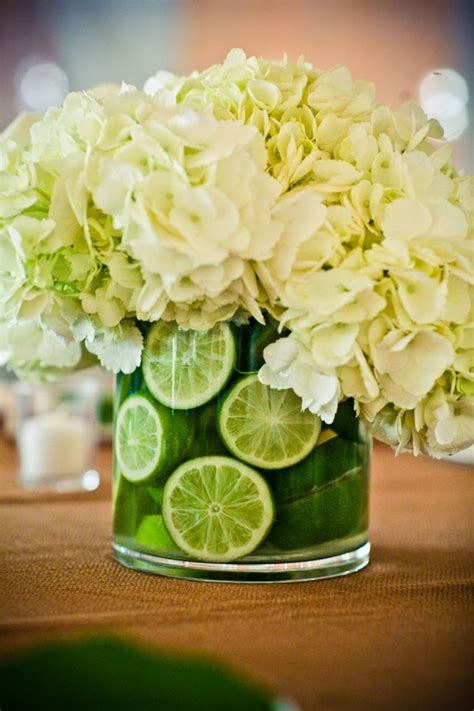 Lime Hydrangea Centerpiece Granny Smith Hydrangea And Lime Green Centerpieces