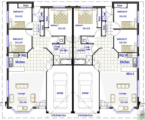 2 bedroom unit floor plans 2 x 3 bedroom duplex design australian kit homes steel