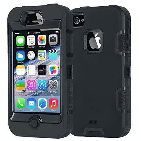 Apple Iphone 4 4s Rugged Shockproof Armor Hybrid Soft 2 armor iphone 4 apple iphone 4 4s shockproof heavy import it all