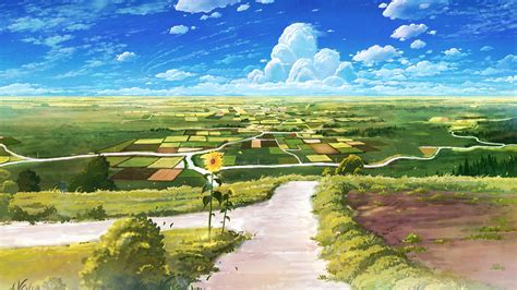 anime landscape android wallpaper country road anime landscape wallpaper wallpaper