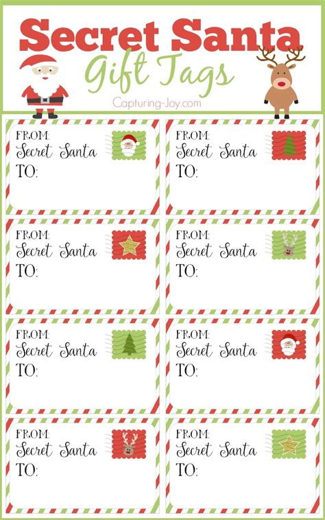 secret santa gift tags and exchange tips secret santa