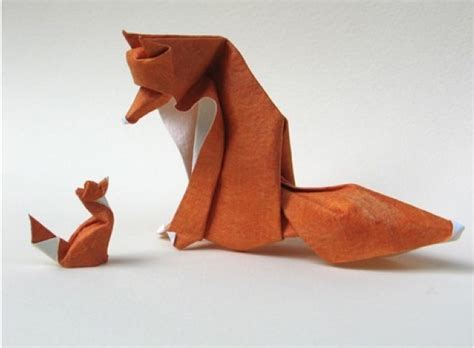 Folded Paper Animals - fox origami origami and paper things