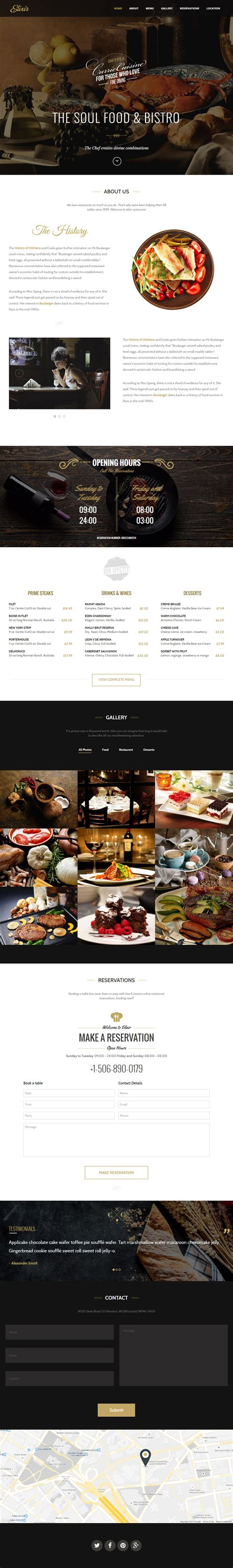 40 Best Cafe And Restaurant Website Templates In 2017 Responsive Miracle Best Restaurant Website Templates