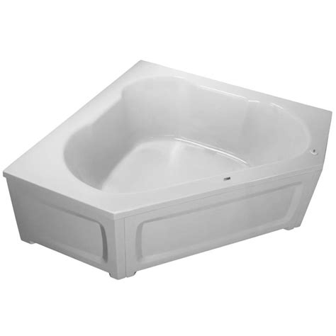 proflo bathtub proflo pfs6060wh white 60 quot x 60 quot corner soaking bathtub with easycare acrylic 2