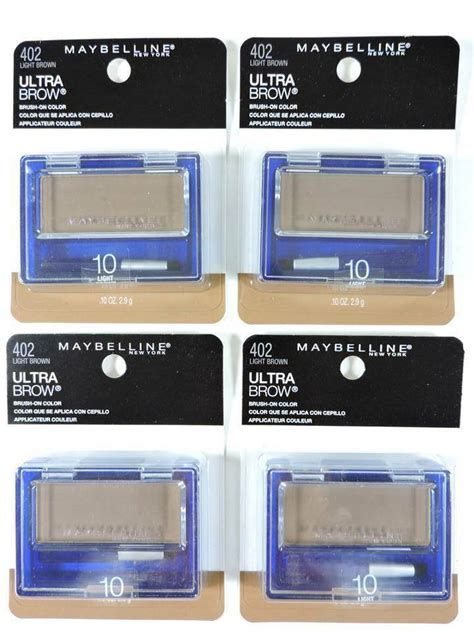 Maybelline Ultra Brow Powder 4x maybelline ultra brow powder 10 light brown eyebrow