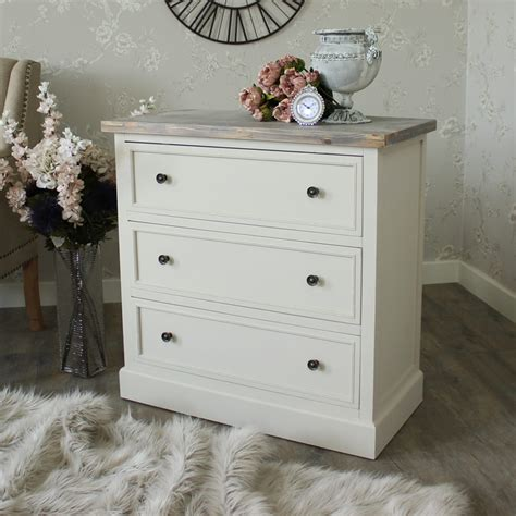 Nursery Drawers by Grey Wooden 3 Drawer Chest Drawers Bedroom Nursery Shabby