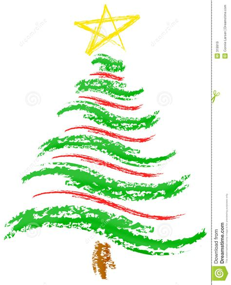 christmas tree sketch stock illustration image of