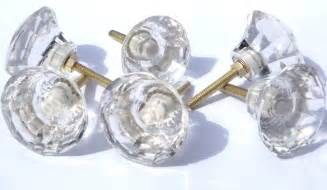 Cut Glass Door Knobs Glass Cut Glass Large Clear Drawer Cupboard Pulls Door Knobs 50mm Ebay